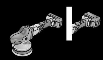 Аккум эксцентриковая полировальная машина XFE15 150 18.0-EC/5.0 Set Flex