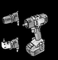 Двухскоростная аккумуляторная ударная дрель-шуруповерт 10,8 В PD 2G 10.8-EC/6.0 Set - Flex, Флекс – 24tool.ru
