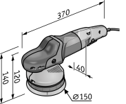 Эксцентриковая полировальная машина XFE7-15 150 Flex Доставка Бесплатно