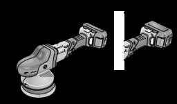 Аккум эксцентриковая полировальная машина XCE8 125 18.0-EC/5.0 Set Flex