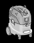 Безопасный пылесос VCE 44 L AC-Set ФЛЕКС с ручной очисткой фильтра, 42 л, класс L – FLEX  - 24tool.ru