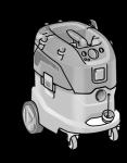 Безопасный пылесос VCE 44 M AC-Set  ФЛЕКС с ручной очисткой фильтра, 42 л, класс M– FLEX - 24tool.ru