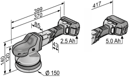 Аккум эксцентриковая полировальная машина XFE 15 150 18.0-EC Flex Акции