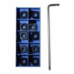 Комплект сменных резущих пластин FA-10Z  для дисковой фрезы Rokit, Рокит