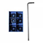 Комплект сменных резущих пластин FA-6Z V90  для дисковой фрезы Rokit, Рокит
